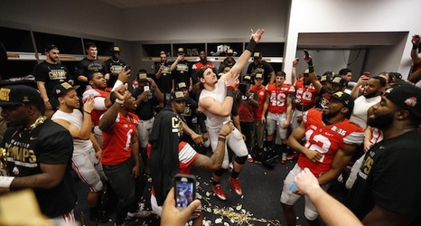 Giants Locker Room Celebration