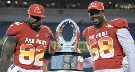 edf7e073e Delanie Walker and Von Miller star late to earn Pro Bowl MVP honors