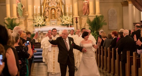 Tom Gayle Benson Renew Their Wedding Vows At The St Louis Cathedral