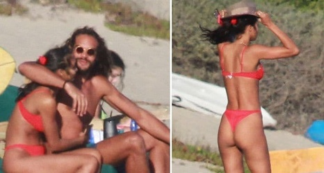 d07242b3a2 Joakim Noah s Victoria Secret Model GF Lais Ribeiro Rocks Thong Bikini In  Malibu