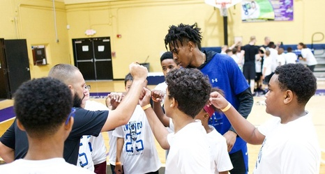 Iwundu Teaches Basketball Drills and Life Skills at Camp For