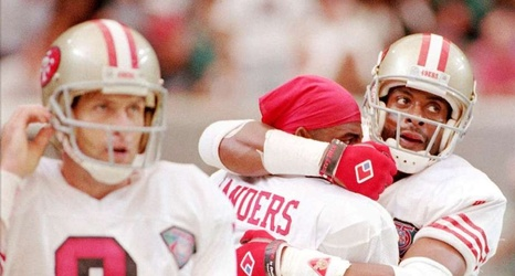 official photos 78068 78705 Jerry Rice parties like it's 1994 as 49ers unveil throwback ...