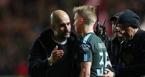 Image result for zinchenko pep guardiola