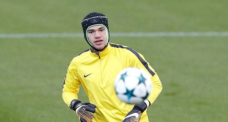 47ae38a5a Ederson wears skull cap as Pep Guardiola s Manchester City side prepare for  Champions League clash against Feyenoord