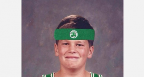 classic shoes best supplier exclusive deals Young Tom Brady dressed in Celtics gear
