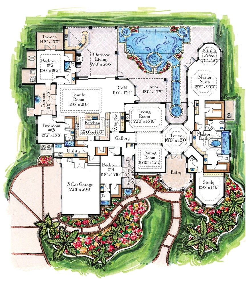 large mansion floor plans mediterranean mansion floor plans 7884